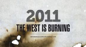 testata - il bureau - the west is burning infografica