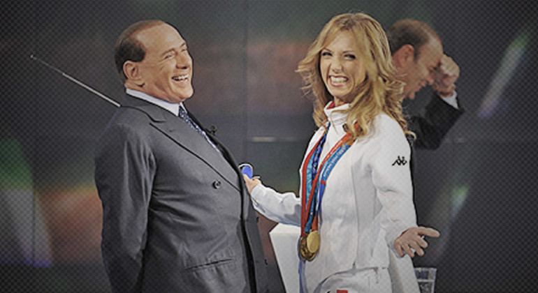 Valentina Vezzali e Berlusconi