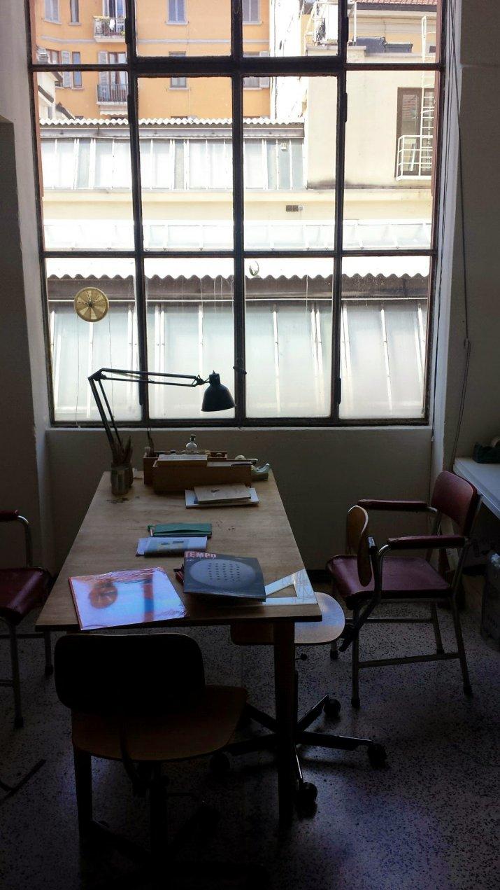 il tavolo di lavoro di Scarabottolo